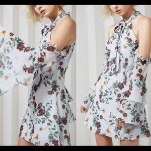 Keepsake Floral Off Shoulder Mini Dress Small